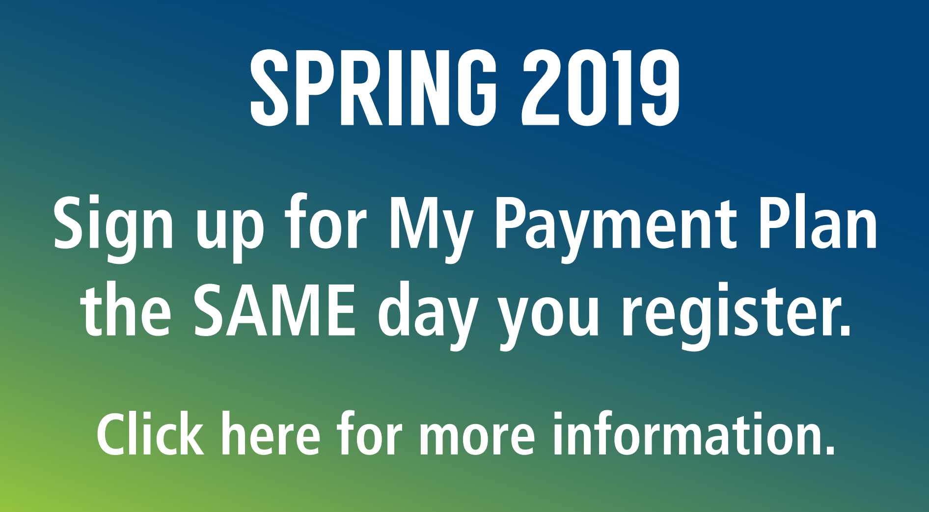My Payment Plan Information Link